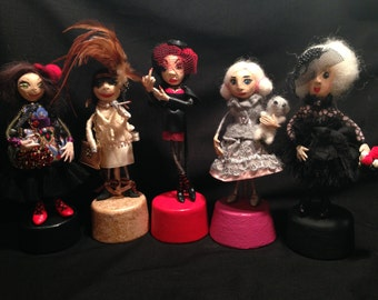"""Brooch-doll """"we are so different"""""""