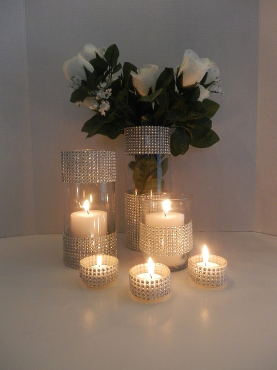 Wedding centerpiece home decorations candle holder for Picture frame candle centerpiece