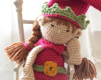 Crochet elf on the shelf christmas elf doll crochet elf toy crochet