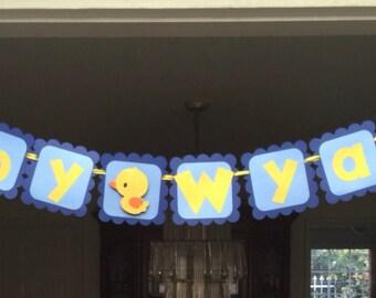 Rubber Duck Baby Shower Banner