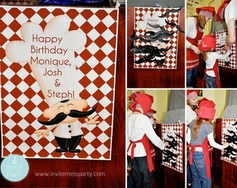Masterchef pin the mustache on the chef game PRINTABLE