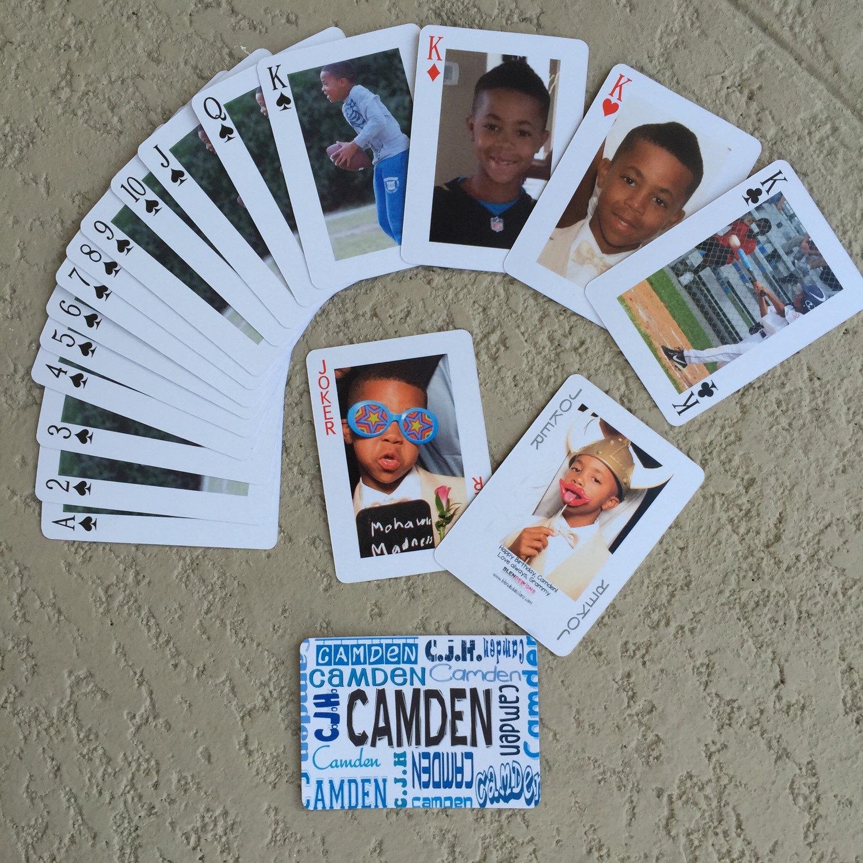 Custom photo poker cards