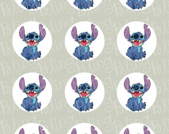 Stitch Edible Icing Cupcake Decor Toppers - STH1
