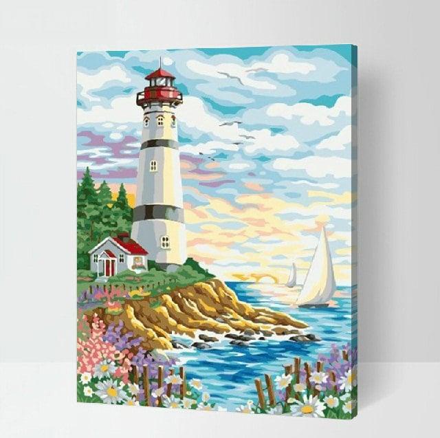 DIY Leuchtturm Malerei Kit malen nach Zahlen Kit DIY Ölgemälde