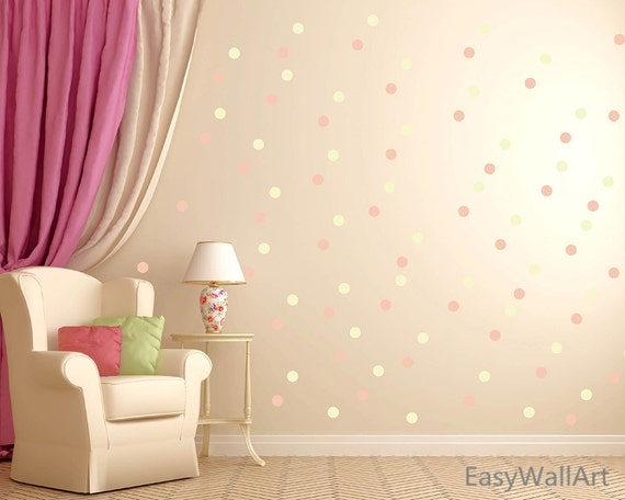 Polka Dot Wall Decals For Kids Rooms : Polka Dot Wall Decal Polka Dot Decal Wall Decor Polka Dot