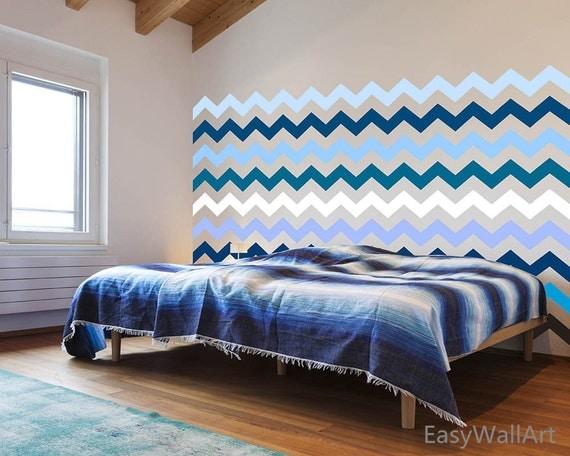 1 Chevron Wall Decal for Living-room, Bedroom, Nursery, Playroom, Kindergarten & Chevrons Wall Pattern Stickers#P67
