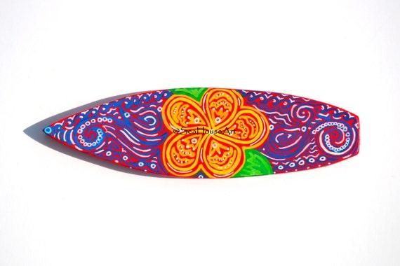 Planche de surf en bois d coration murale planche de surf - Planche de surf deco ...
