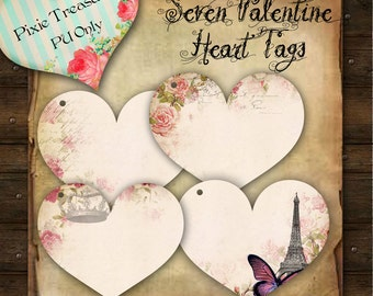 Valentines Day Heart Tags