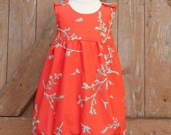 Wattle Brush Dress PDF Pattern, Bubble Dress, Pinafore Pattern, Girls Sewing Pattern, Girls Dress Pattern, Sizes 12M to 8