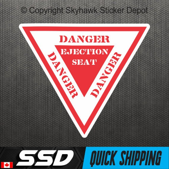 Ejection Seat Warning Sticker Vinyl Decal Funny Sticker Bumper