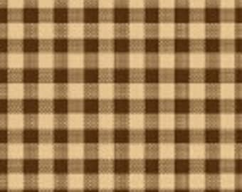 Windham Basics - Brown & Tan Plaid Fabric