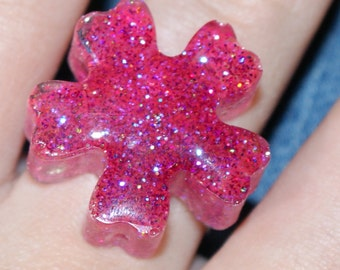Pink resin flover ring