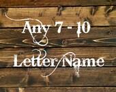 "Custom ANY 7-10 Letter Name- 42"" Size (004)"