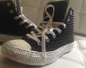 Diamonds and Pearls Converse High Top