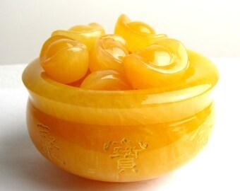 Feng Shui Topaz Cornucopia Ornament-WEN8302118934-MAD