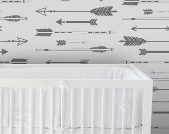 Wallpaper, Removable Wallpaper, Arrow wallpaper, Peel and stick wallpaper, Kids wallpaper, Nursery wallpaper, self adhesive wallpaper