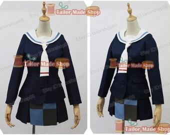 Selector Infected WIXOSS Ruko Kominato Cosplay Costume Blue