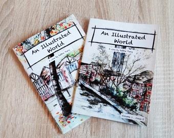 Art Zines Pack of 2 : An Illustrated World Vol. 1 Issue 1 & 2
