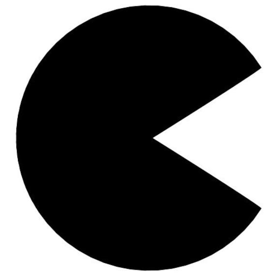 Back Icon Logo Pacman Icon Logo Vinyl