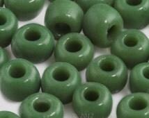 Vintage Venetian Seed Bead Greasy Green  5/0  20 gram bag. b17-226(e)