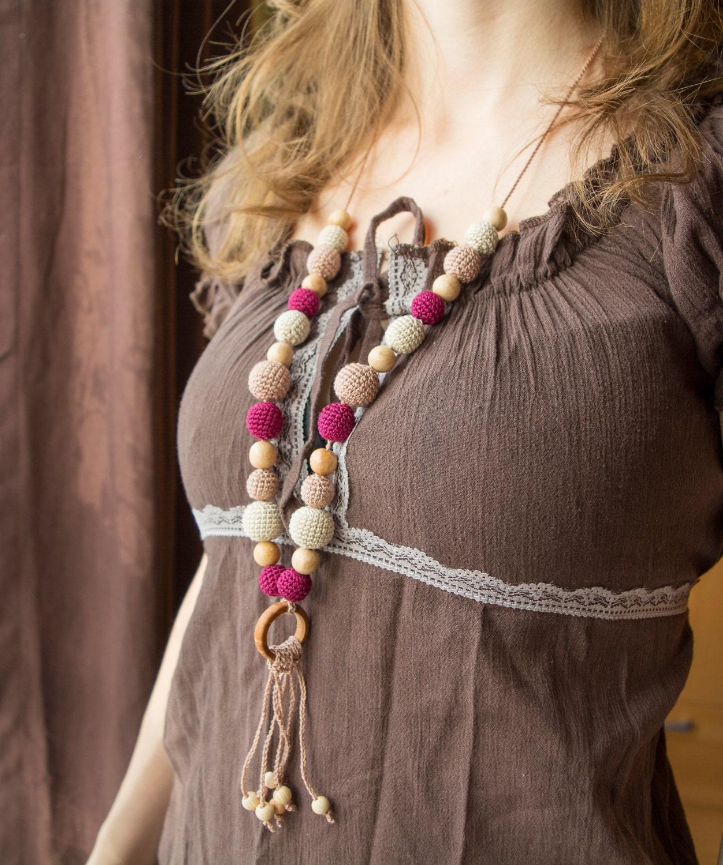 collier avec pendentif pour b b fait ses dents collier de. Black Bedroom Furniture Sets. Home Design Ideas