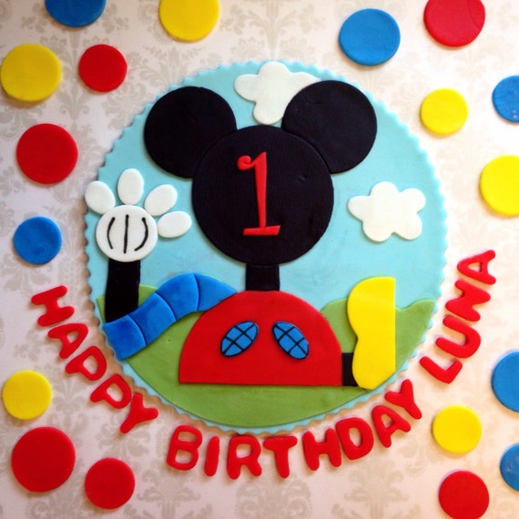 Mickey Mouse Clubhouse Edible Cake Images : Mickey Mouse Clubhouse Edible Fondant by FondantandFrosting