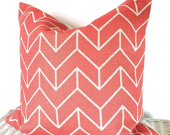 Geometric coral pillow cover geometric coral cushion cover