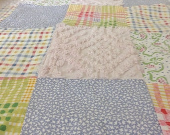 Patchwork Baby Quilt. Toddler Blanket, Crib Quilt