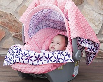 Beautiful Girls carseat cover, carseat Canopy or cover Embroidered, comes with matching everything, Appliqued, Monogrammed