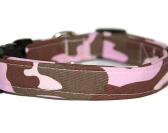 Pink Camo Dog Collar