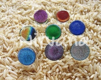 "Custom Colors Pyrex Dichroic Glass Plugs 10g 8g  6g 4g 2g 0G 00g  7/16"" 1/2"" 9/16"" 5/8"" 3/4"" 7/8"" 1"" 2.5 mm 3 mm 4 mm 5 mm 6 mm 8 mm - 25 mm"