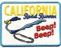 Road Runner ~ California ~ Beep Beep ~ Looney Tunes Embroidered Iron On / Sew On Patch Applique