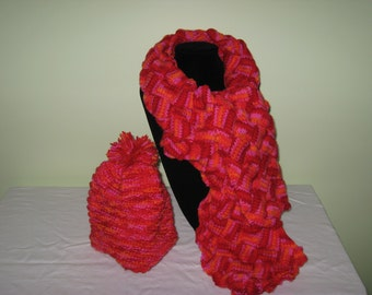 Knitted Scarf and Hat