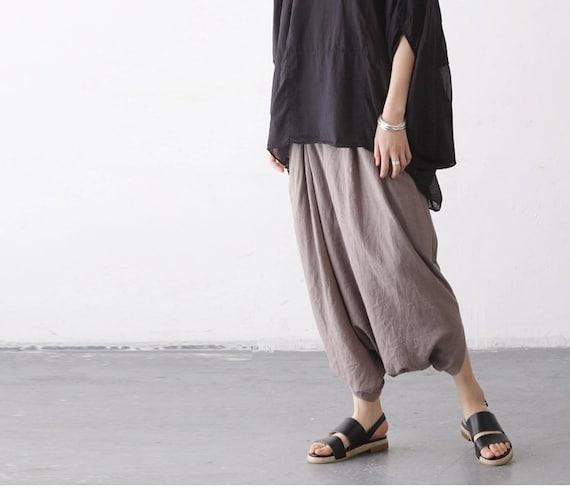 Creative Womens Grey Linen Pants  Pant So