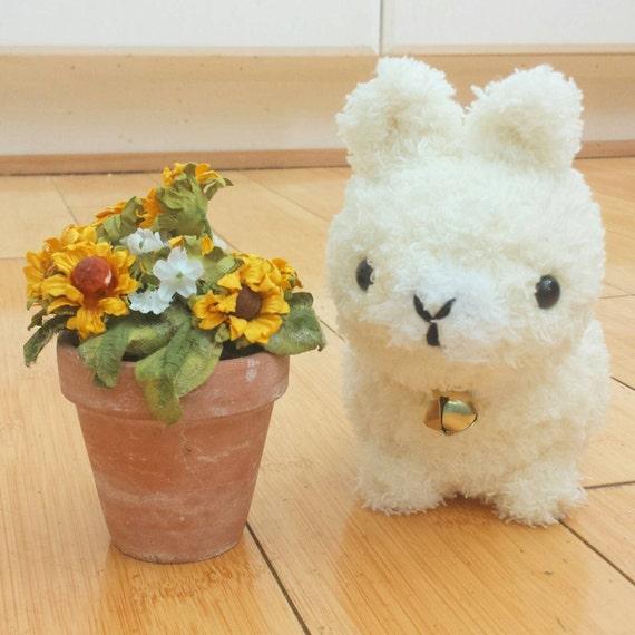 Amigurumi Alpacasso : Alpaca plush amigurumi valentines day by bubblyteashop