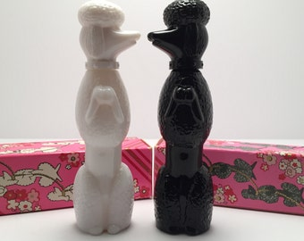 Sale Avon Vintage Perfume Bottles - Bon Bon set of 2 Poodles was 20.99