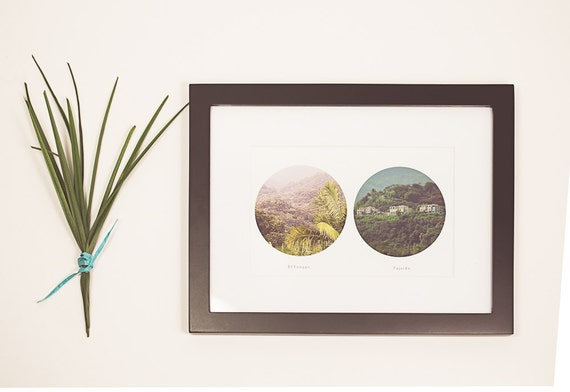 Items similar to framed puerto rico photo travel for Puerto rico home decorations