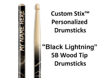 Personalized Drumsticks with Attitude!  One pair with each order. Great gifts for drummers and musicians.