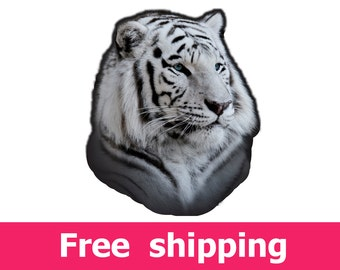 white tiger wall sticker, tiger wall decal, tiger wall decor, tiger wall art, tiger poster, tiger print, tiger mural, tiger art [img092]