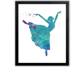 Dancer Art Print, Watercolor Print, Teenage Girl Art - FIG005