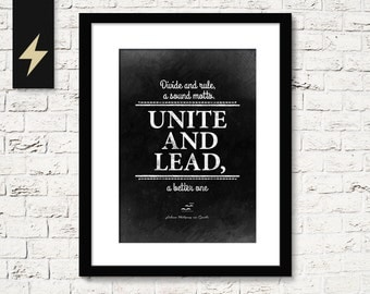 Leadership quote poster. Political poster. Boss gift. Leadership gift. Motivational wall art. Inspirational print. Quote print wall decor