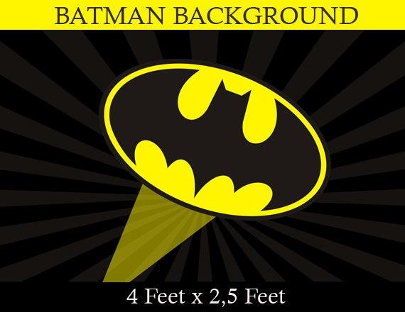 Superhero birthday party city scape background batman party
