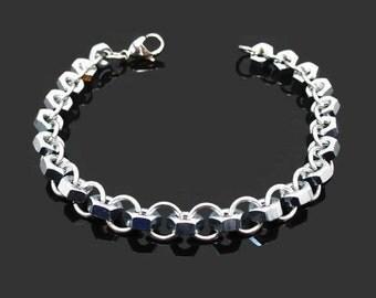 Hex nut bracelet. Men's bracelet, chain jewelry, industrial fashion