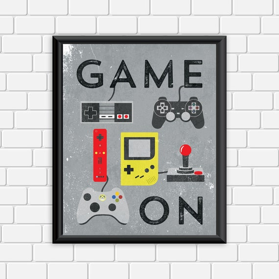 video game printable art typography game by digitaldriveintoo 13 fun pieces of classic video game home decor homes and