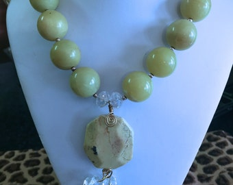 Yellow Jade Necklace