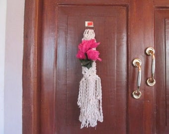 natura cotton Macrame wall hanging / flower holder / wall decor / home decor / small size /