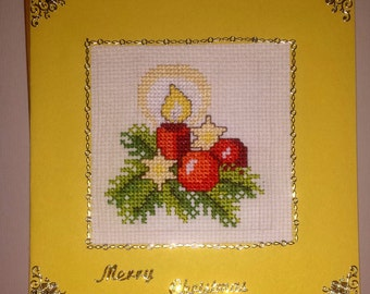 Christmas cross stitch card