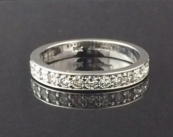 0.50ctw Diamond Wedding Band In 14k white gold