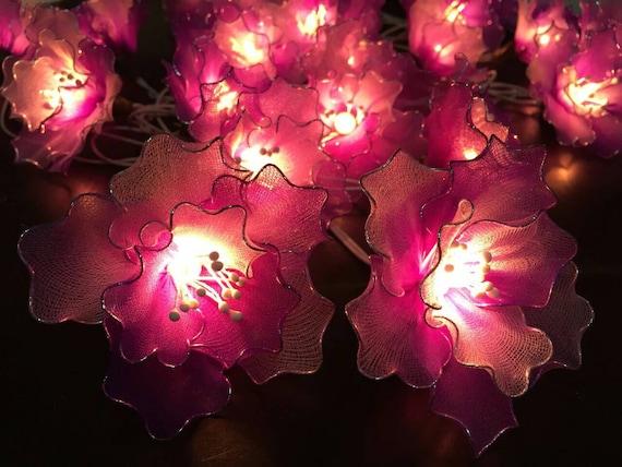 Purple String Lights For Bedroom : Fairy Lights-20 Purple Tone Flower Fairy String by FloraBlossanova