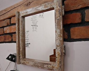 Hand Crafted Reclaimed Cottage Window Frame Mirror
